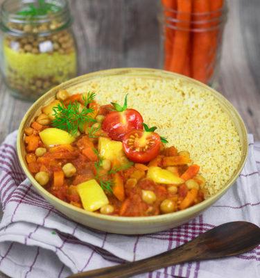 LunchVegaz vegane Fertiggerichte - Bio Kichererbsen Tajine