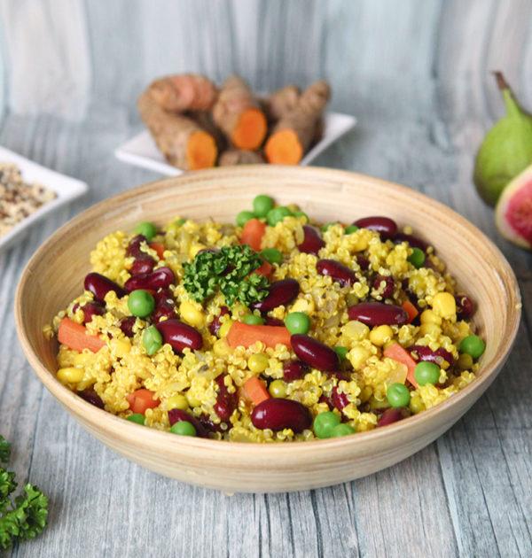 LunchVegaz vegane Fertiggerichte -Bio Quinoa Pfanne